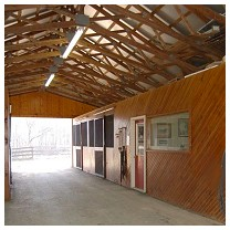 Stallion Barn Aisle Way